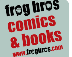 Frog Bros Comics and Books logo