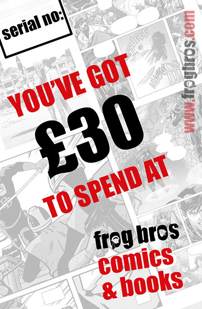 FROG BROS COMICS AND BOOKS £30 GIFT CARD