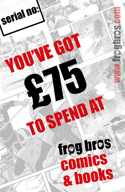 FROG BROS COMICS AND BOOKS £75 GIFT CARD